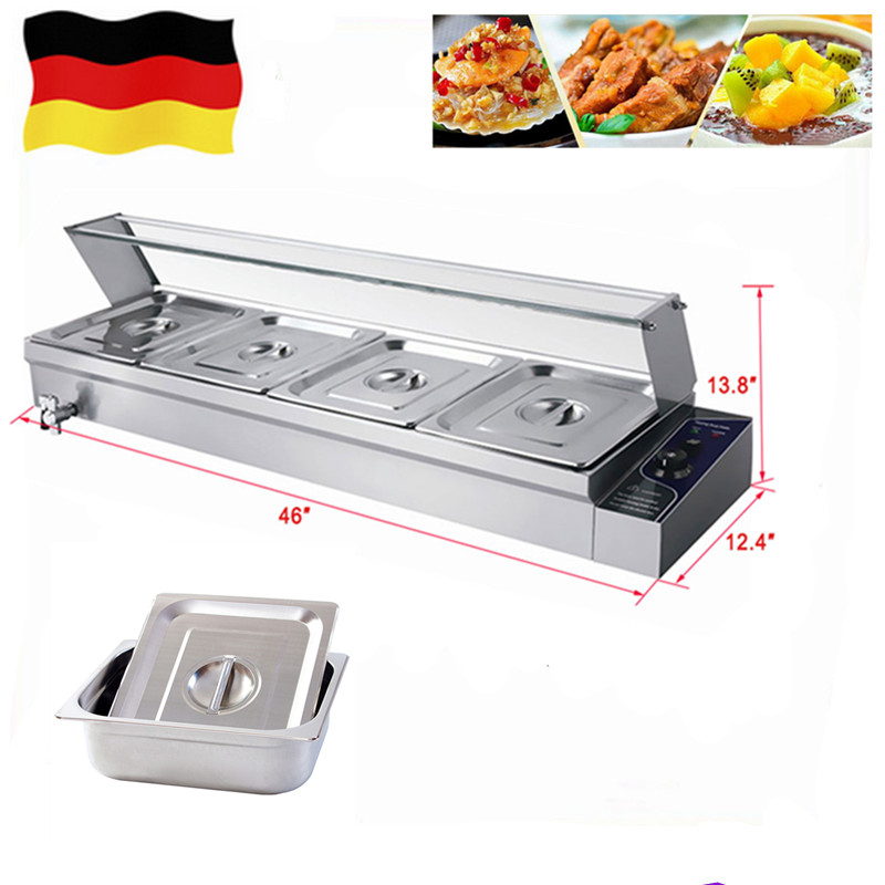 Top Quality wet heat countertop bain marie mini commercial food warmer steamer soup buffet equipment