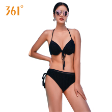 цена на 361 Women Swimsuit Black Sexy Bikini Set Underwire Push Up Bikinis Female Swimming Suit Halter Swimwear Ladies Pool Bathing Suit