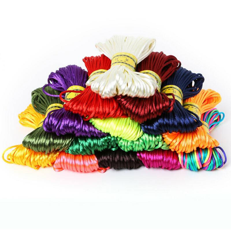 16 meter Silky Satin Cord Kumihimo Lace Thread Bracelet sewing dress
