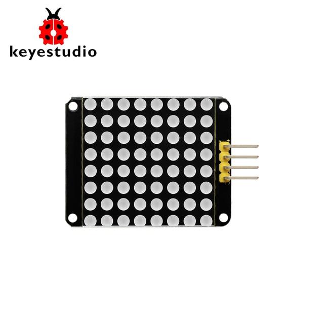 Keyestudio Red Color Common Cathode I2C 8*8 LED dot Matrix module HT16K33 for Arduino /Raspberry Pi/AVR/STM32