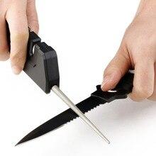 Pocket EDC Gear Knife Sharpener Outdoor Survival Tool Diamond Ceramic Knife Foldable Sharpening Grinding Tool Camping Equipment