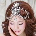 Bridal wedding tiara luxury frontlet semi-precious stones hairband three piece forehead tiara wedding hair accessories