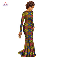 in stock Summer Dress Robe Femme Dashiki Dresses for Women Plus Size 6xl africa Clothing woman Traditional Bazin Riche wy1813