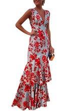 فستان بوهو ماكسي طويل بدون أكمام موديل مثير