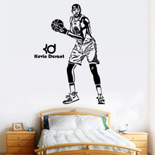 Free shipping diy wallpaper Basketball superstar Kevin Durant wall stickers Home Decoration mural