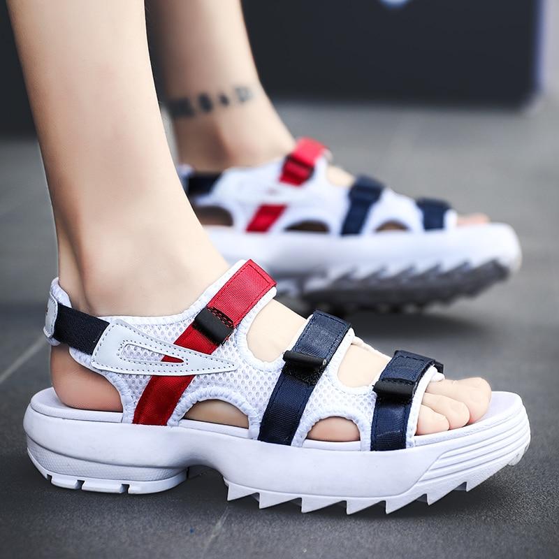 2019 Summer Men's Flat Mesh Air Sandals