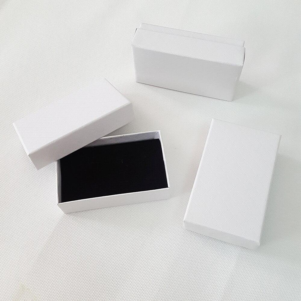 8x5x2.5 سنتيمتر أبيض ورقة مربع زفاف صالح مربع والمجوهرات تخزين مربع المفاتيح حلقة رئيسية هدية مربع مجموعة من 50-في حقائب ومستلزمات تغليف الهدايا من المنزل والحديقة على  مجموعة 1