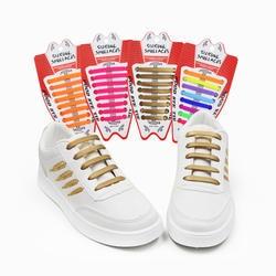 16 шт./компл. красочные без галстука шнурки резиновый силиконовый эластичная обувь кружево для мужчин женщин шнуровкой 13 цветов