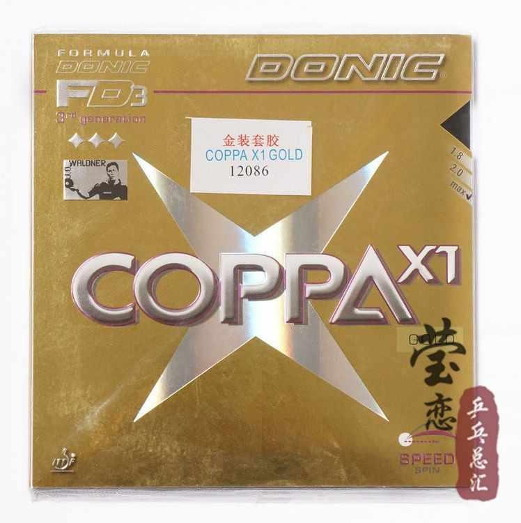 Original Donic COPPA X1 Gold/ COPPA X1 TURBO Platin/ COPPA X2 Platin Soft/ COPPA X3 Silver table tennis rubber tennis rackets