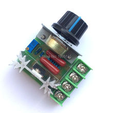 1Pcs 220V 2000W Speed Controller SCR Voltage Regulator Dimming Dimmers Thermostat Free / Top Sale(China (Mainland))