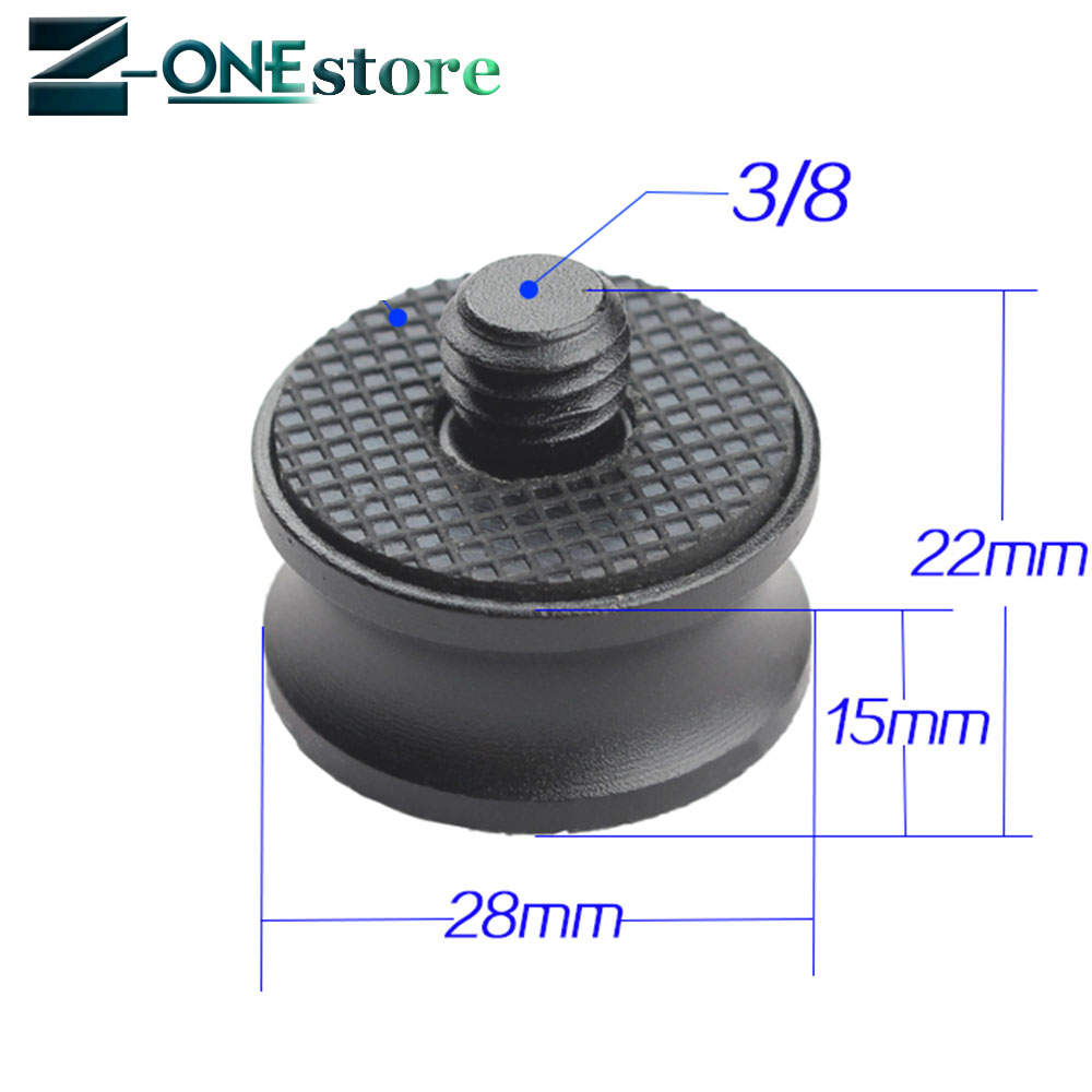 1/4 to 3/8 Male or Female Adapter Screw Camera Tripod Ball Head Monopod Flash Light Stand Mount Accessories 3/8 to 1/4
