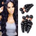 Brazilian virgin hair loose wave 3pcs lot Siyo Hair Products 7A brazilian loose curly virgin brazilian human hair bundles