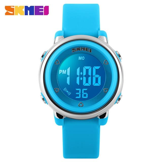 SKMEI Childrens Silicone Digital Watches Kids LED Electronic Wristwatches Fashio