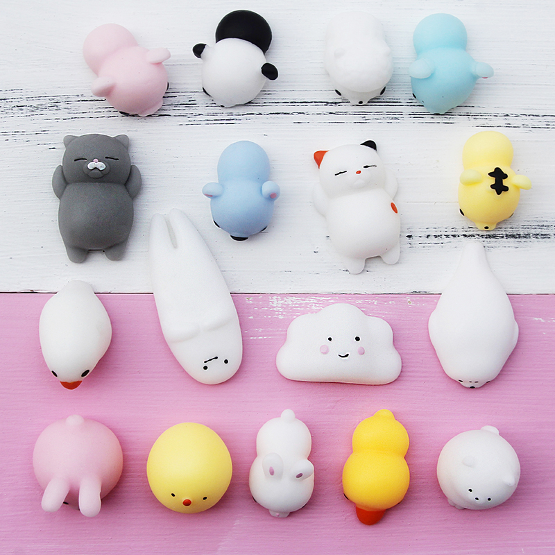 AIBOULLY Dropshipping Cute Mochi Squishy Cat Kawaii Adult