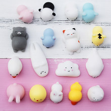 Mochi squishy Soft squishy toys Cute Kawaii Mini Rolling Pregnant Lazy Cats Soft Hand Pinch Squeeze Stress Relief Phone Kid Gift(China)