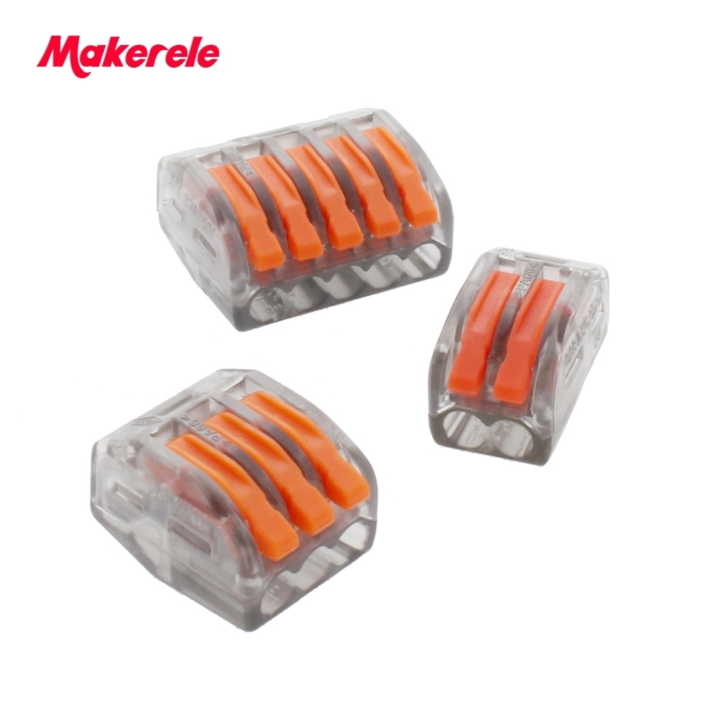 Universal Compact Wiring Conector Terminal Block Connectors Terminator Wire Connector Opaque Transparent AWG 28-12 Makerele