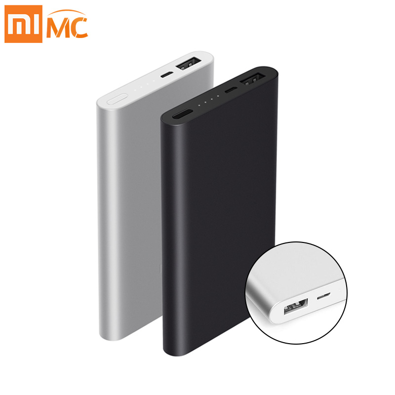 Original 10000 mAh Xiao mi banco 2 carga rápida batería externa soporta 18 W carga rápida para Android teléfonos móviles IOS