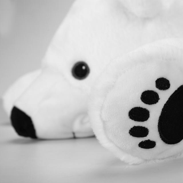 Newborn Baby Pillow Polar Bear Stuffed Plush  Animals Kawaii Plush Baby Soft Toy Kids Toys For Children's Room Decoration Doll