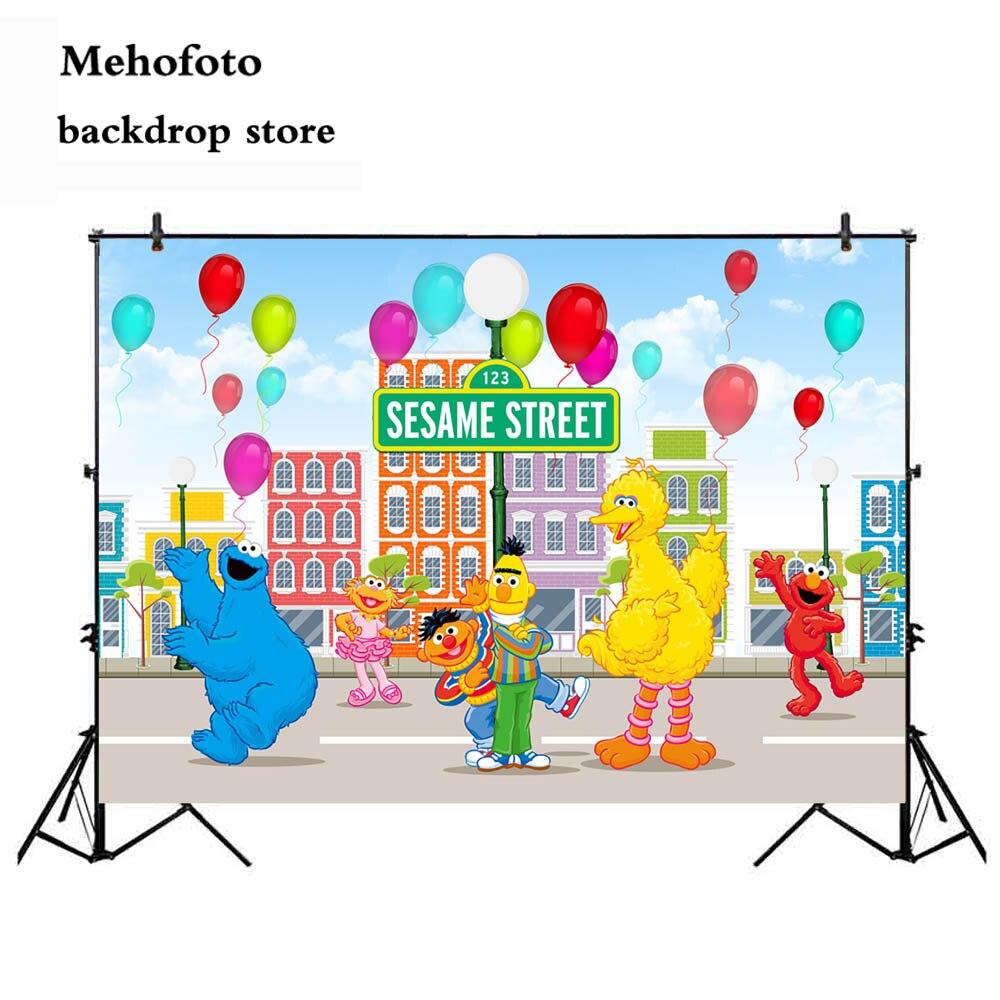 Aliexpress Buy Mehofoto Sesame Street Party Backdrop for Elmo