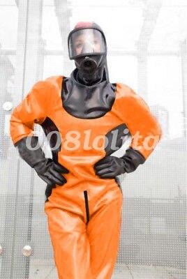 Nuovo Lattice di Gomma Gummi Tuta Sfera di Costume Vigile Del Fuoco Catsuit XXS-XXL