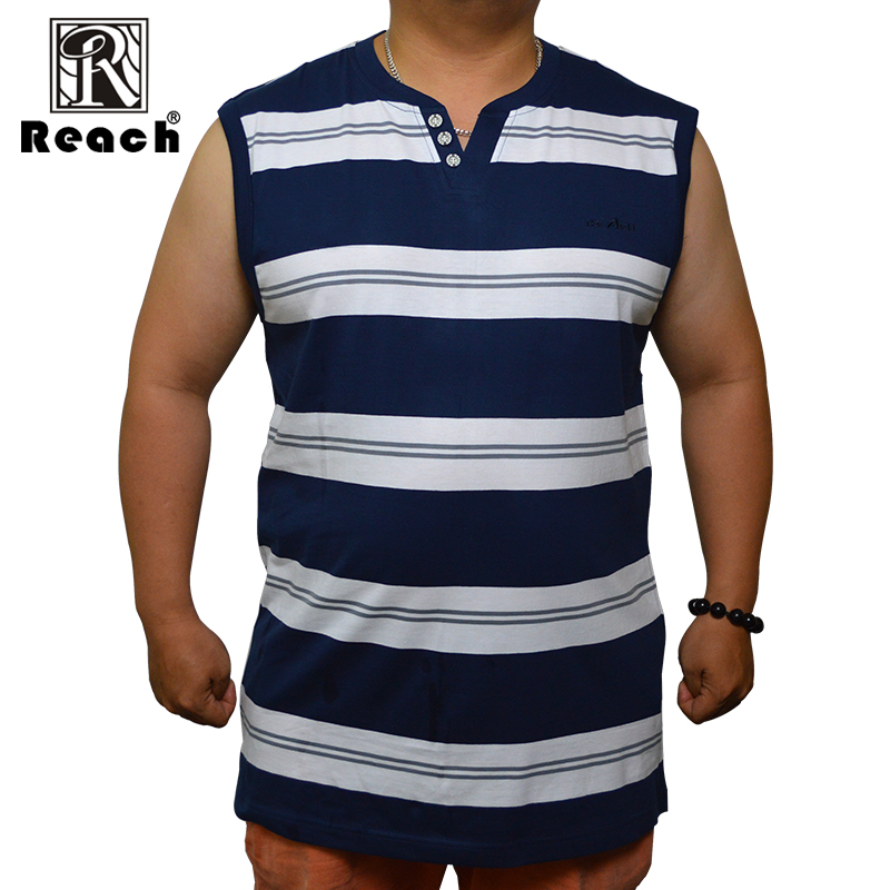 reach Men   Tank     Top   Sleeveless Cotton   Tank     Top   Men Casual Summer 2018 Sexy Loose Plus Size Stripes 8XL Big Size V Neck New