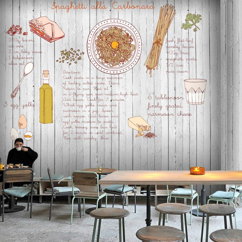Personalization 3 d pasta pizza wood 3D wallpaper food large mural 3D wallpaper restaurant cafe leisure hotel набор для кухни pasta grande 1126804