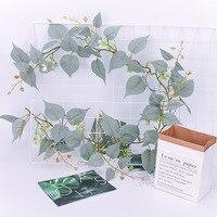 5Pcs/lot Simulation Flower Rattan Artificial Flower Vine Silk Wisteria Garland Hanging Rattan For Wedding Arch Garden Wall Deco