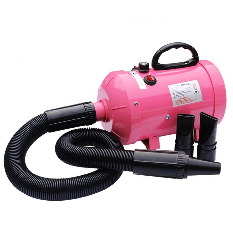 110 V 220 V ventilador del agua del animal doméstico de alta potencia silenciosa pequeño perro grande gato tomar un baño secador continuamente Variable velocidad