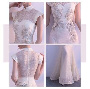 Image 5 - חדש הכלה מסיבת Cheongsam מזרחי נשים שמלת אופנה בסגנון סיני אלגנטי ארוך Qipao יוקרה חתונה גלימת Vestido S XXL