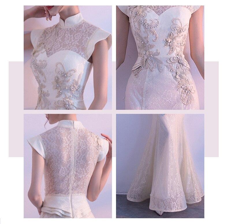 Image 5 - New Bride Party Cheongsam Oriental Womens Dress Fashion Chinese  Style Elegant Long Qipao Luxury Wedding Robe Vestido S XXLDresses   -