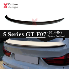 Carbon Fiber Rear Spoiler Wing For BMW 5 Series GT F07 Gran Turismo 2014 - present Performance Gloss Black Spoilers