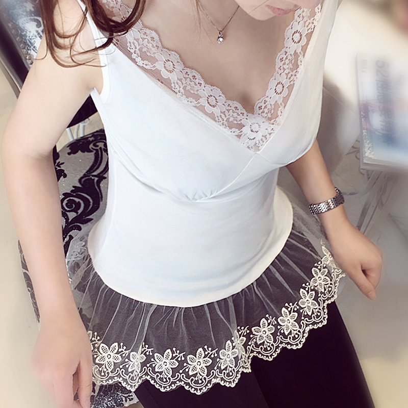 Original New 2016 Brand V Neck Sexy Lace font b Camis b font White Tops for