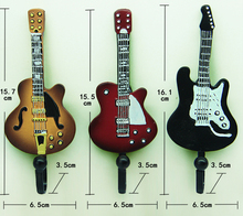 樹脂&鉄現代のコート壁ローブフック浴室の服タオルフック、家の装飾ドアコート帽子壁フックギター、3ピース/ロット