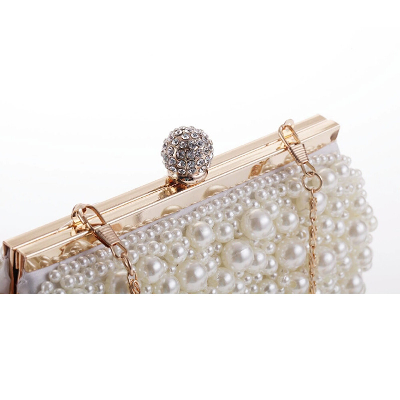 Luxury Pearl Women Bag Fashion Two Sided Beaded Evening Bags  Wedding Bridal Handbag Pearl Beaded Lace Fashion Rhinestone BagsLuxury Pearl Women Bag Fashion Two Sided Beaded Evening Bags  Wedding Bridal Handbag Pearl Beaded Lace Fashion Rhinestone Bags