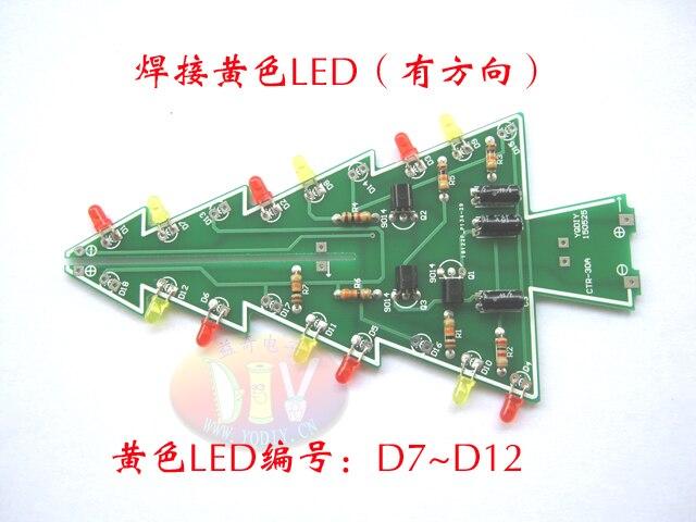 electronic practice parts flash kit flashing christmas tree partsGt Diy Module Hot Gt Funny Diy Gt Diy Kit Red Green Flash Led Circuit #17