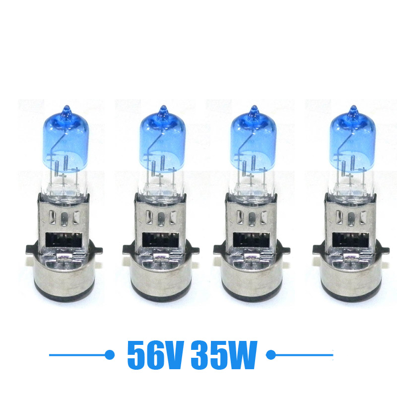 4 Pcs Scooter Headlight 56v 35w Xenon Light Halogen Lamp Bulbs BA20D For Electric E-Bike E-Scooter Moped