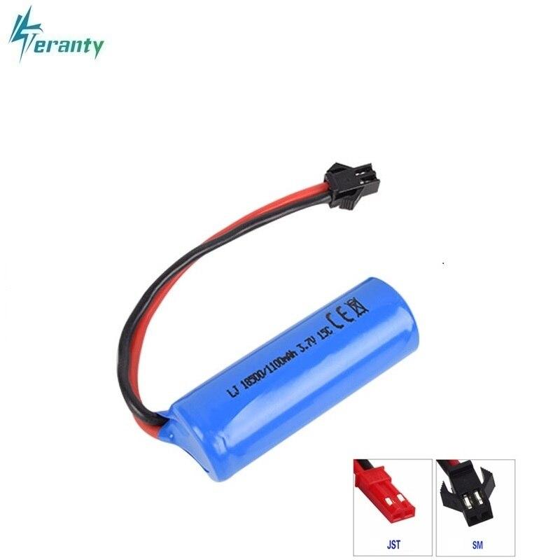 Batería Lipo 3,7 V 1100mAh 15c para S900 FT008 de control remoto helicóptero/bote 3,7 v 18500 baterías li-po para batería de juguete SM Plug