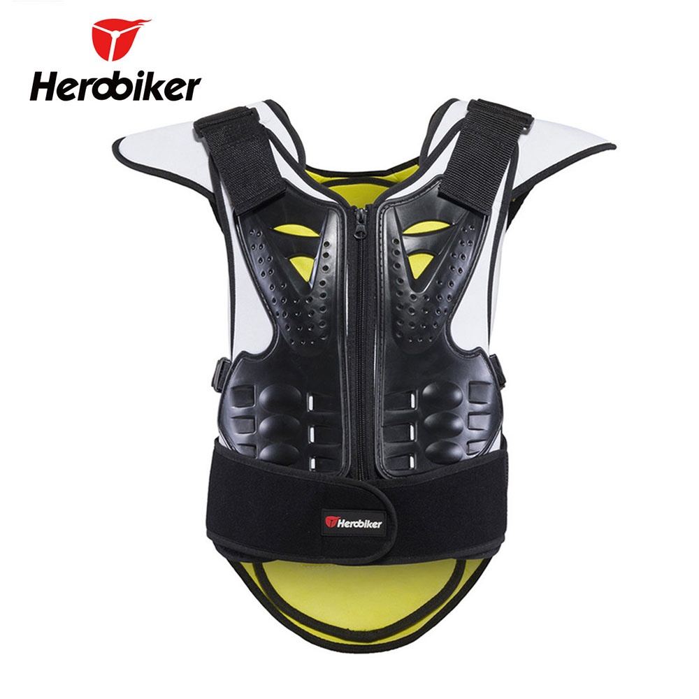 HEROBIKER Men Women Motorcycle Body Armor Vest Motocross Vest Unisex Motorcycle Armor Moto Protective Gear Waistcoat Protector herobiker armor removable neck protection guards riding skating motorcycle racing protective gear full body armor protectors