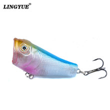 New Arrival 1pcs Hard Popper Fishing Lures High Quality Topwater Wobblers Fishing Bait 5 Colors Available