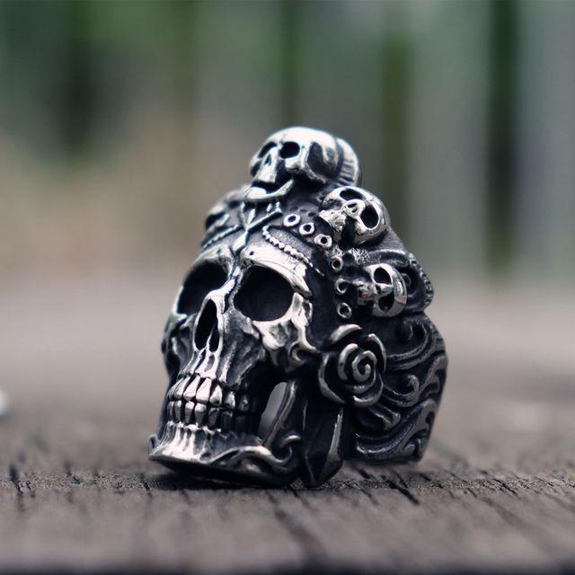 STAINLESS STEEL DEATH SKULL RINGS