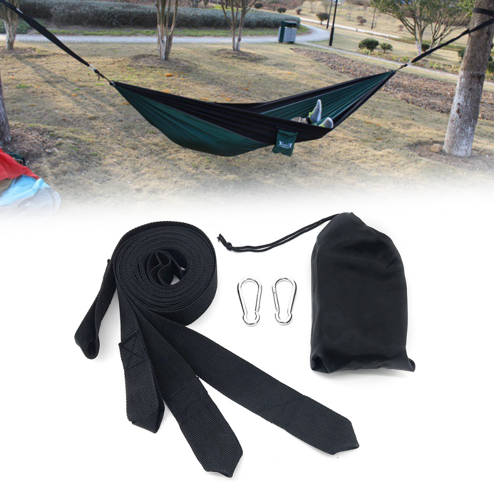 Camp Sleeping Gear Honesty Doorsaccery Hanging Belt 3m Hammock Strap Rope With Metal Buckle Hooks Load Bind Outdoor Camping Hiking Hammock Bringing More Convenience To The People In Their Daily Life