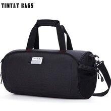 TINYAT Men Travelling Handbag Bag with shoes pouch Waterproof Canvas Shoulder Du