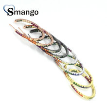 5Pairs, Women Fashion Jewelry,The Rainbow Series,The Bigger Circle Shape Earrings.4 Colors,Can Wholesale