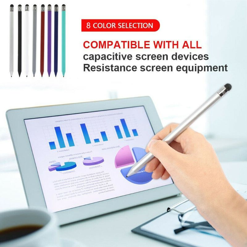 Retro Round Thin Tip Touch Screen Pen Capacitive Stylus Pen Replacement For iPad iPhone Mobile Phones Tablet Accessories Pakistan