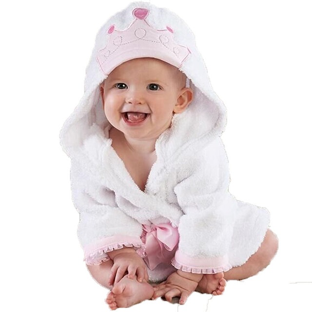 14 Color Cute Animal Pattern Baby Bath Robe Hooded Long Sleeve Cotton Bathrobe Infant Soft Kids Hot Sale Baby Towel Infant Towel