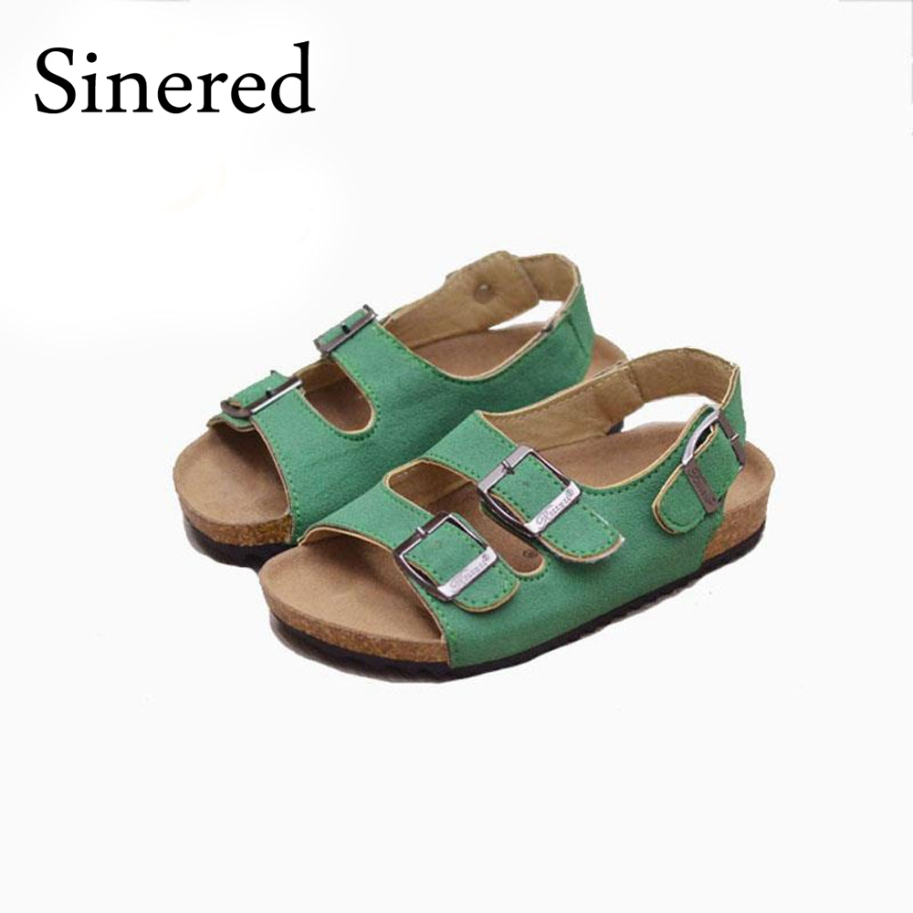 Sinered 2016 summer children casual beach sandals for boys girls outdoor word cork shoes high quality non-slip sandals size22-39