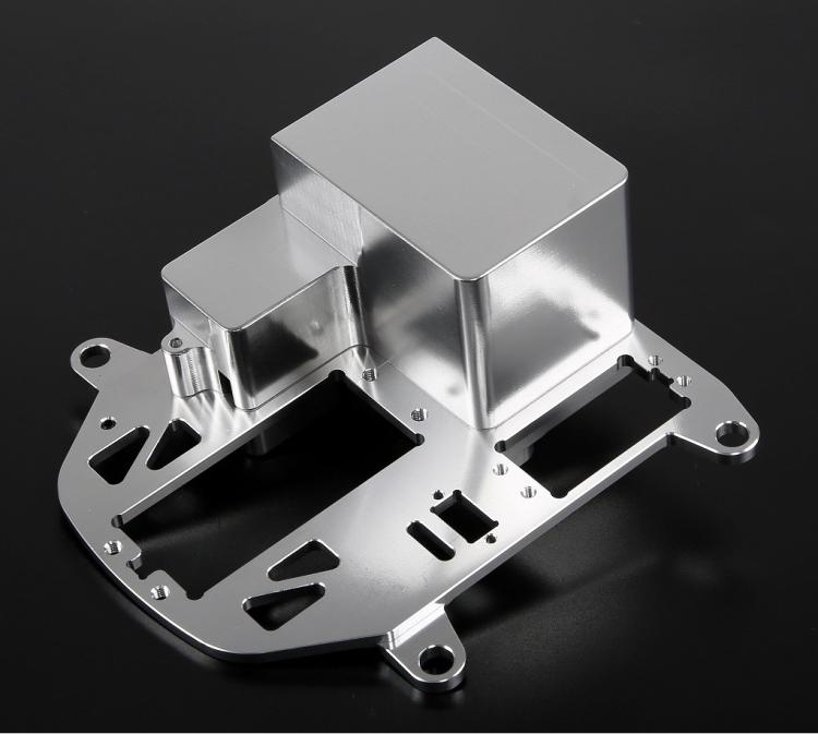 CNC Legering Symmetrische Steering Systeem met Metalen Batterij Case kit voor 1/5 HPI Rovan KM Baja 5B 5 t 5SC rc Onderdelen Upgrade - 5