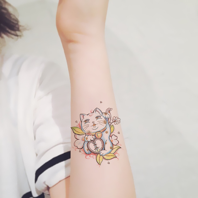 Impermeable Tatuaje Temporal Pegatinas Lindo Multi Color Suerte