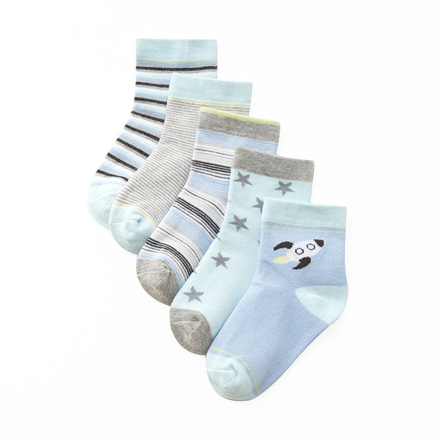 Girls' Bright Cotton Socks 10 pcs Set