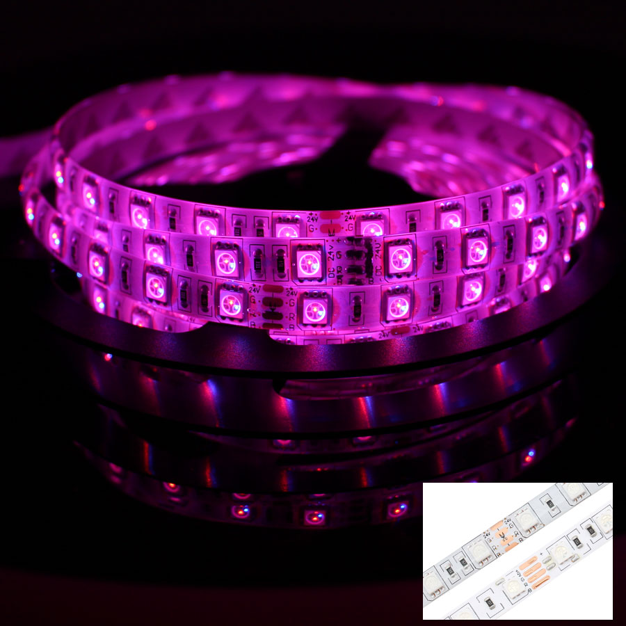 Led Light Strips Rgb Us 3 69 40 Off 12v 24v Led Light Strip Pc Smd 5050 Rgb Rgbw Rgbww 60led S 5 M 12 24 V Volt Led Strip Lights Waterproof Lamp Ribbon Tv Backlight In